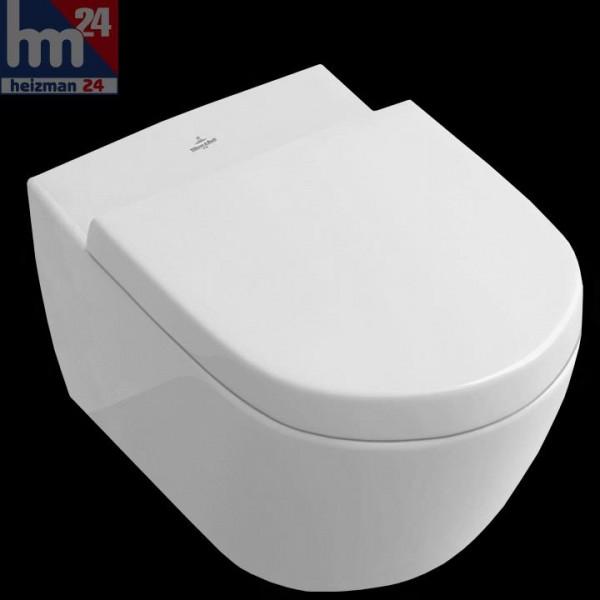 Villeroy & Boch Subway 2.0 Wandtiefspül-WC spülrandlos mit CeramicPlus 5614R0R1 inkl. WC-Sitz