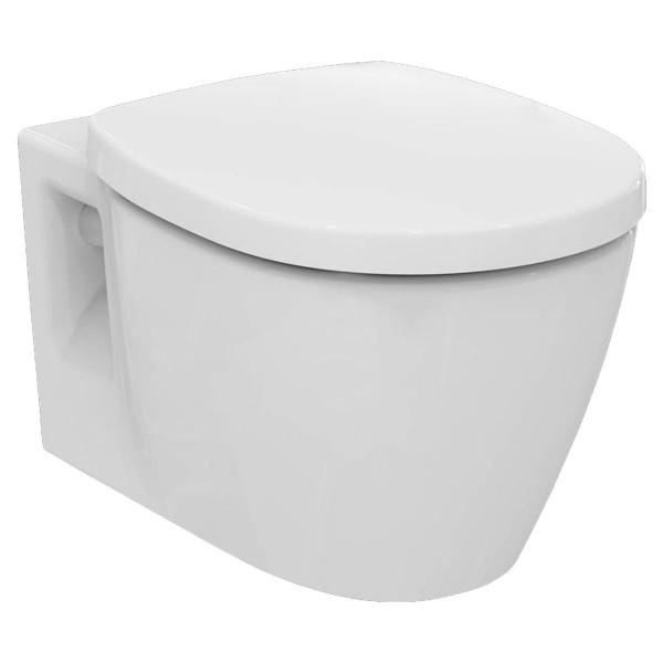 Ideal Standard Connect Wandtiefspül-WC spülrandlos E817401 mit WC-Sitz Softclosing E712801