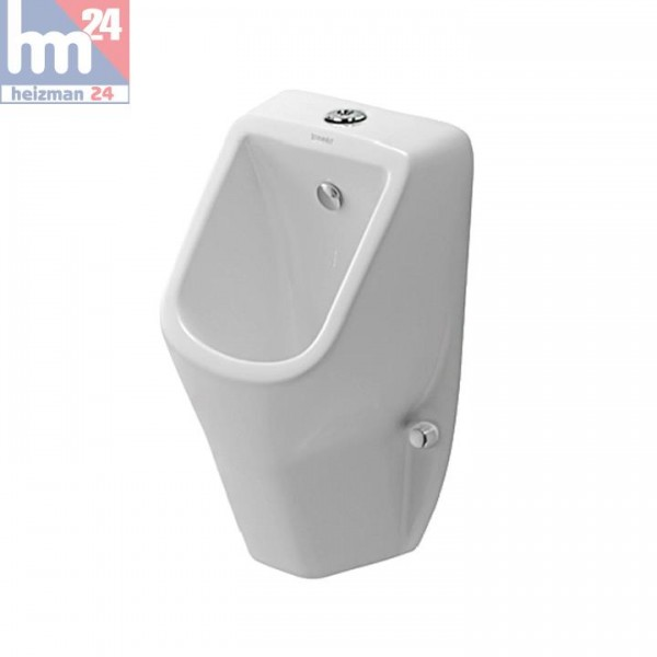 Duravit D-Code Urinal 0828300000 spülrandlos / rimless ohne Fliege mit Zulauf von oben