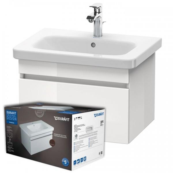 Duravit DuraStyle Möbel Set Badmöbel Waschtisch 600x455 mm DS006002222 Weiß Hochglanz