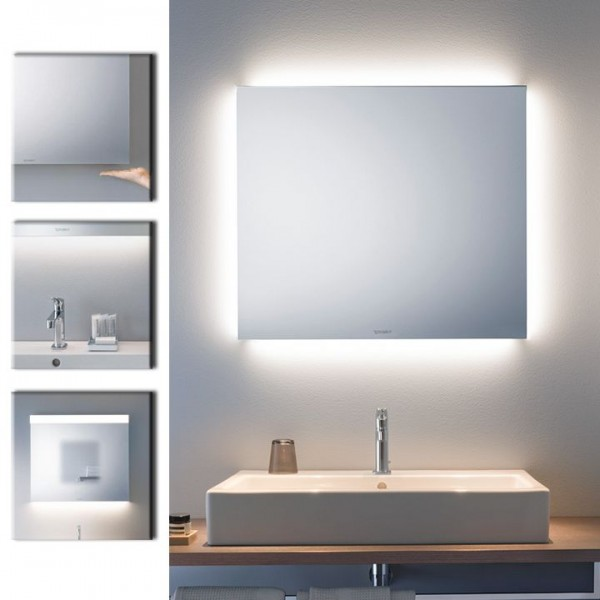 duravit best spiegel mit led beleuchtung ambient light 60x70cm lm7825 spiegelheizung. Black Bedroom Furniture Sets. Home Design Ideas