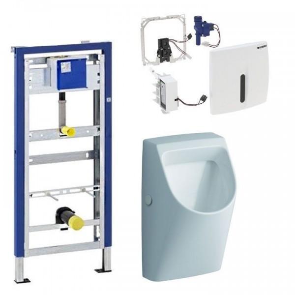 Komplett Set Geberit Duofix Basic mit Keramag Urinal u HyBasic berührungslos