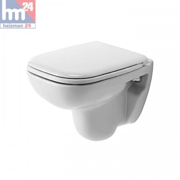 Duravit D-Code Wandtiefspül-WC Compact 2211090000 inkl. WC-Sitz optional mit SoftClose