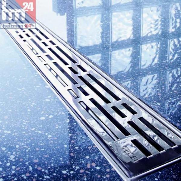 TECE drainline Duschrinne 800 mm 600800 inkl. Designrost mit Ablauf und Montagefüße