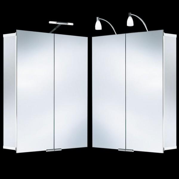 HSK ASP 500 Alu-Spiegelschrank 105x75 cm mit integrierter Beleuchtung 1123105