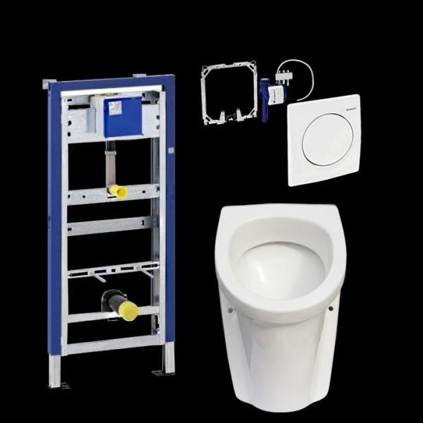 Komplettset Gustavsberg Saval 2.0 Urinal inkl. Geberit HyBasic Urinalsteuerung u. Duofix Basic