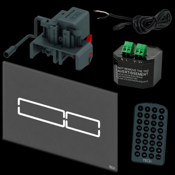 TECE lux Mini elektr. Betätigungsplatte Touch Glas schwarz 9240961 inkl. Trafo u. Fernbedienung