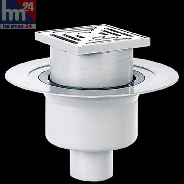 Dallmer Bodenablauf 61 HT/KE 150 x 150 mm DN 100 mit Ablaufstutzen 611260