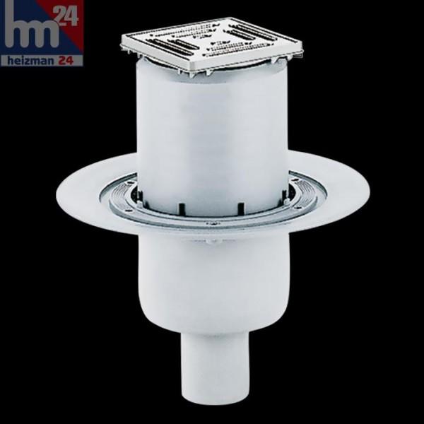 Dallmer Bodenablauf 40 SE 100 x 100 mm DN 50 mit Ablaufstutzen 405050