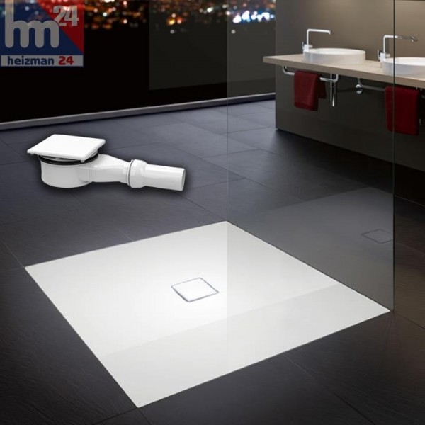 Kaldewei Conoflat Quadrat Stahl-Duschwanne 90 x 90 oder 100 x 100 cm inkl. Ablaufgarnitur KA 120