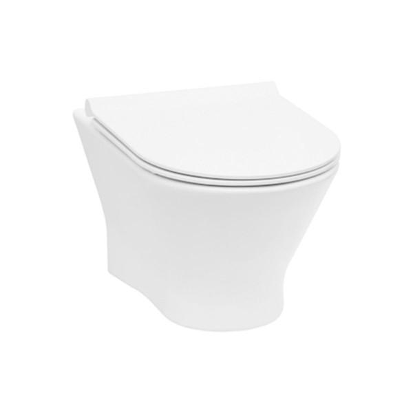 Roca Nexo Wand Tiefspül WC spülrandlos mit Slim WC Deckel Softclose A34H64L00
