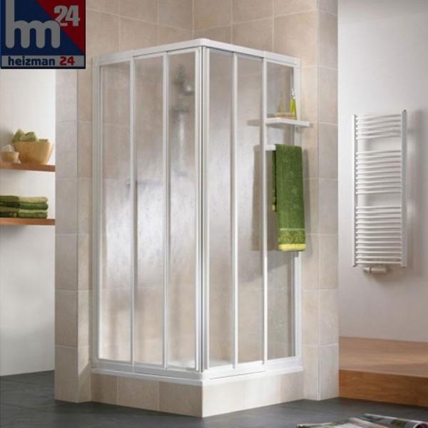 HSK Favorit Gleittür Eckeinstieg 3-teilig Höhe 185 cm inkl. Handtuchhalter und Ablage bei Kunstglas
