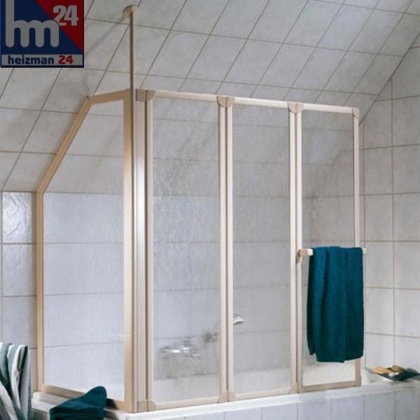 HSK Prima Badewannenaufsatz inkl. Handtuchhalter Höhe 140 cm