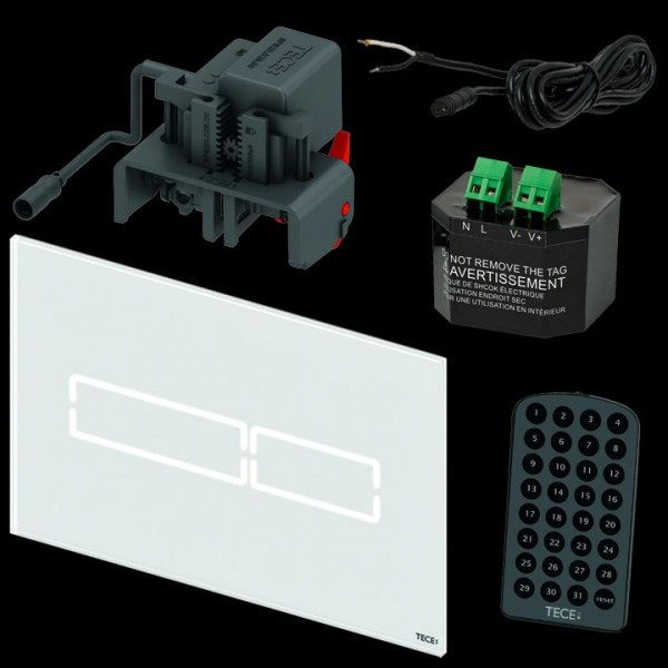tece lux mini elektr bet tigungsplatte touch glas wei. Black Bedroom Furniture Sets. Home Design Ideas