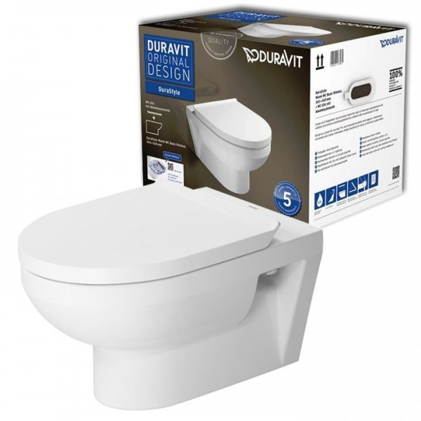 Duravit DuraStyle  Rimless Wandtiefspül-WC Set spülrandlos 45620900A1 inkl. WC-Sitz SoftClose