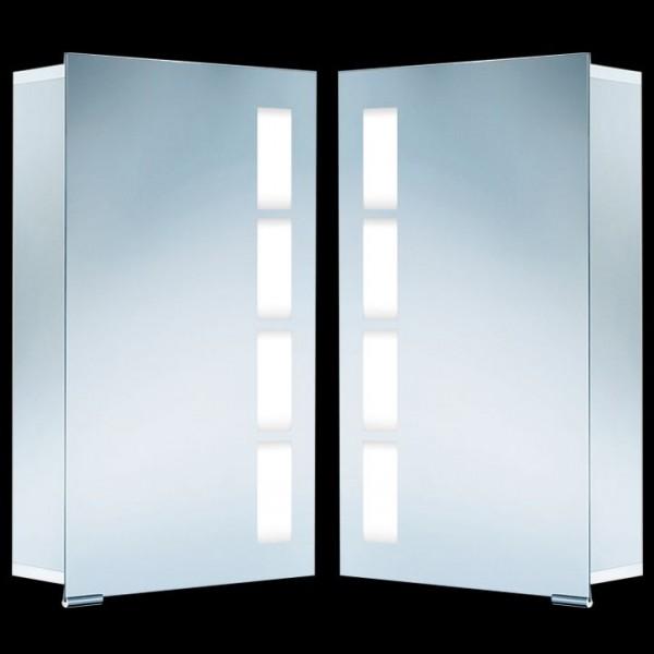 HSK ASP 500 Alu-Spiegelschrank 45x75 cm mit integrierter Beleuchtung 1121045