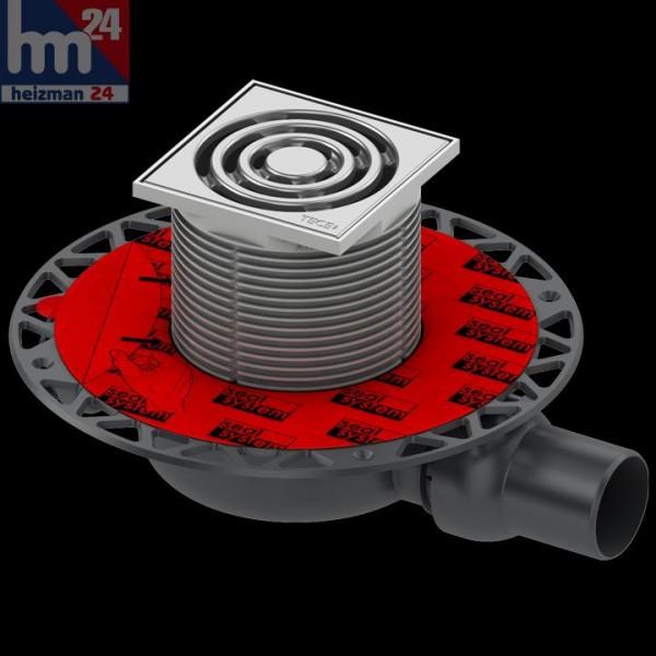 TECE drainpoint S 110 Ablaufset DN 50 waagerecht mit Seal System 3601100